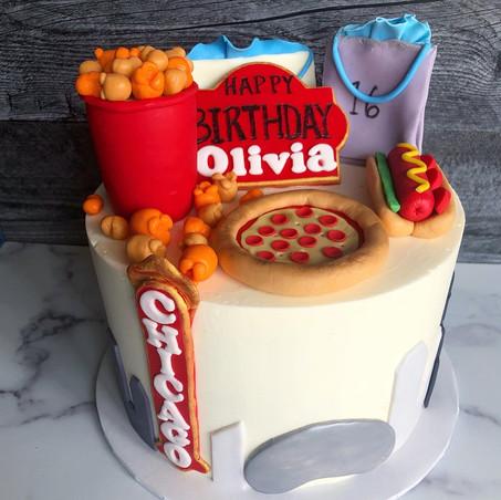 Chicago Birthday Cake
