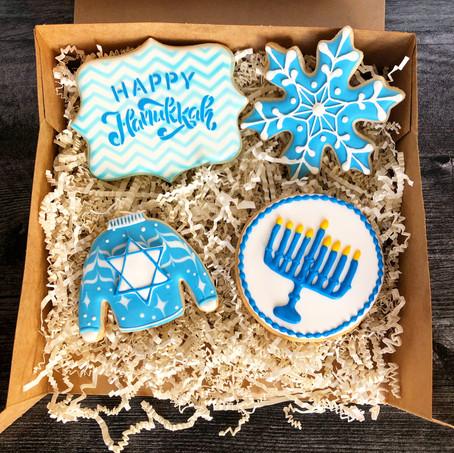 Hanukkah cookie box