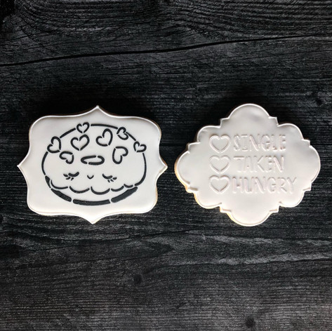 Paint Your Own Cookie Valentine Gift Box