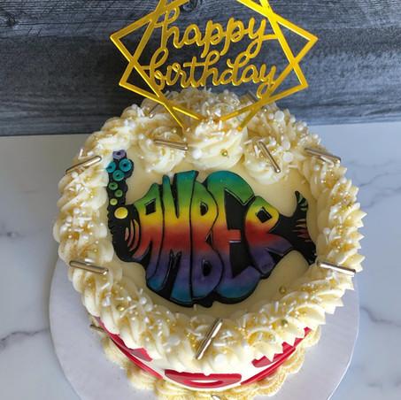Custom Phish birthday cake