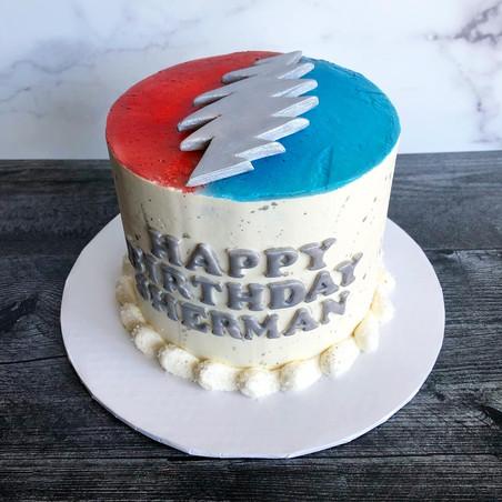 Grateful Dead birthday cake