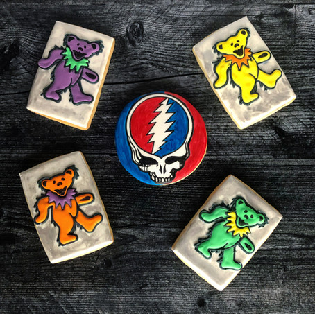 Grateful Dead sugar cookies