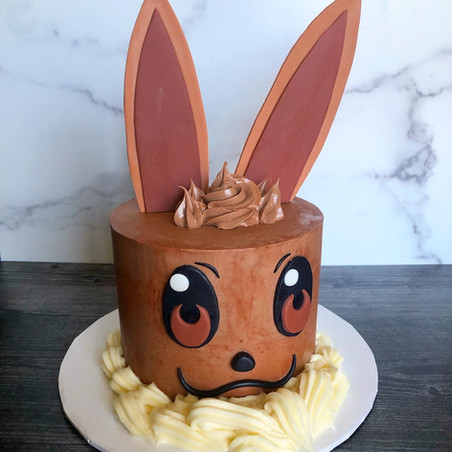 Evee Pokemon chocolate mousse cake