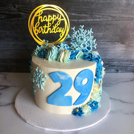 Wintery Birthday Cake