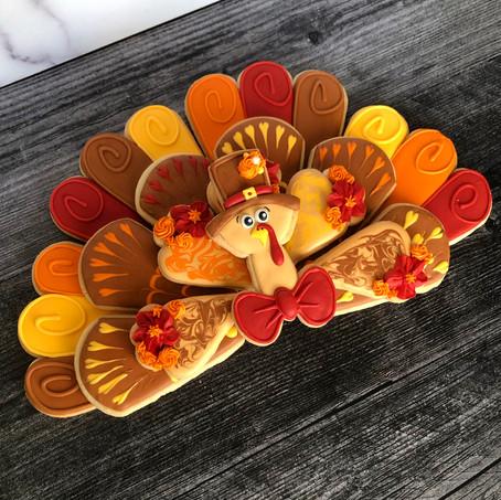Turkey sugar cookie platter