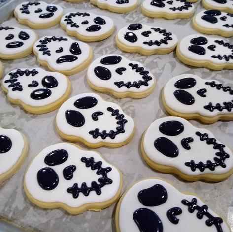 Skull Halloween Cookies