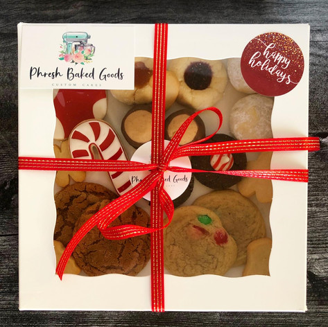 Holiday variety cookie box