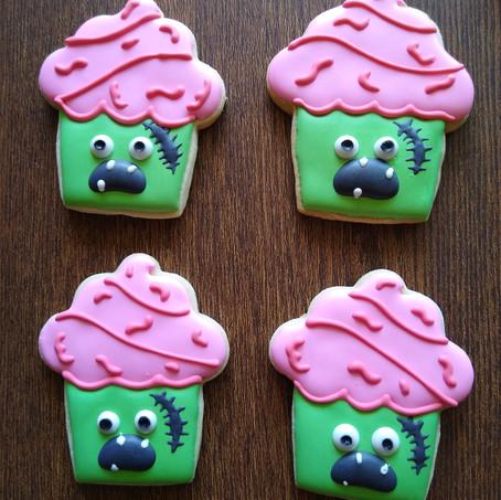 Zombie muffin Halloween cookies