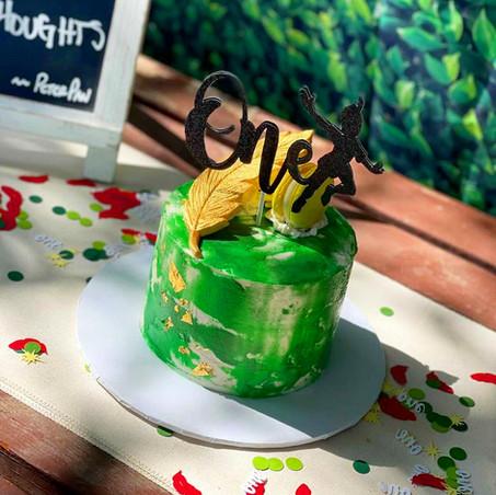"""Peter Pan """"onederland"""" smash cake"""
