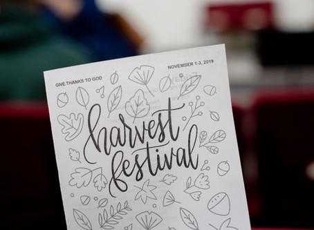 "2019 Harvest Festival: ""Give Thanks to God"""