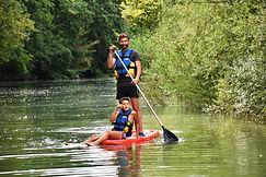 Stand up paddle sur la Sarthe