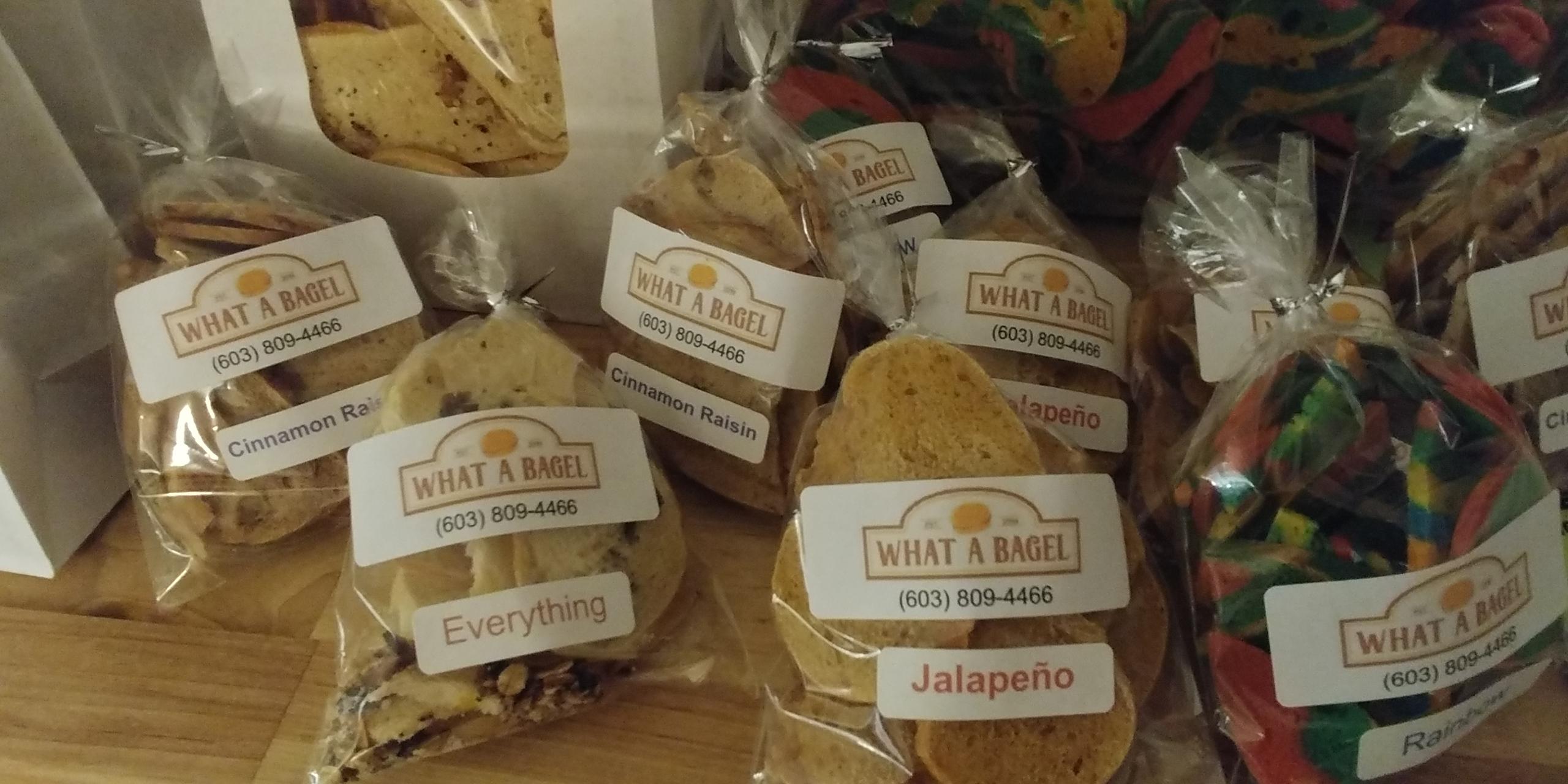 Mini Bags of bagel chips