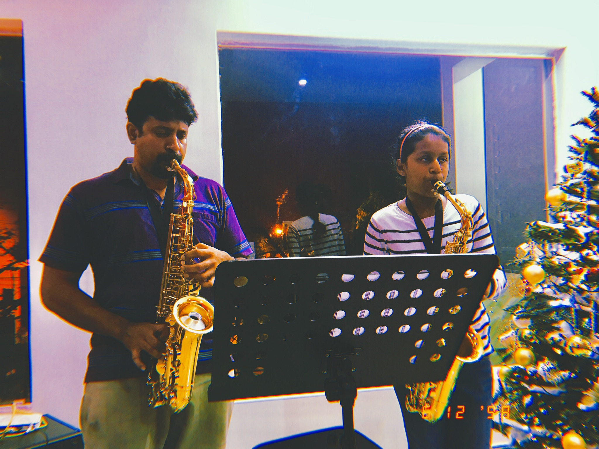 Narayan and Betsy on the Sax