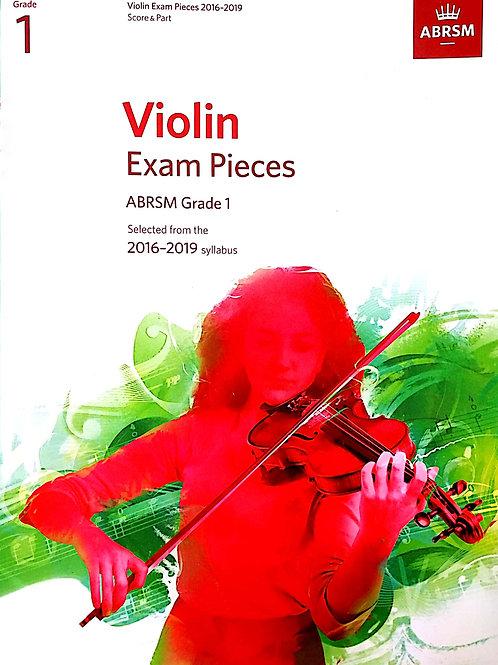 Violin Pieces (Grade 1) ABRSM 2016-2019
