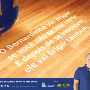 O Bernardinho vai Brigar se você não se inscrever. E depois de se inscrever, ele vai brigar também.