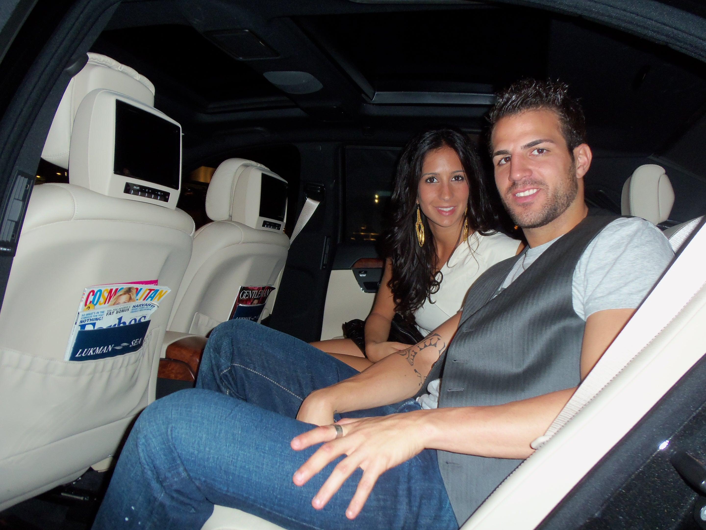 Cesc Fabregas y Esposa