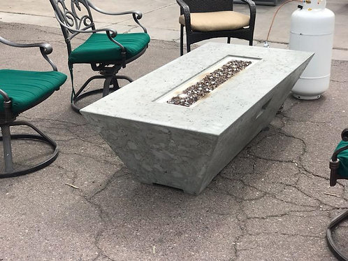 OBLIQUE RECTANGULAR FIRE TABLE