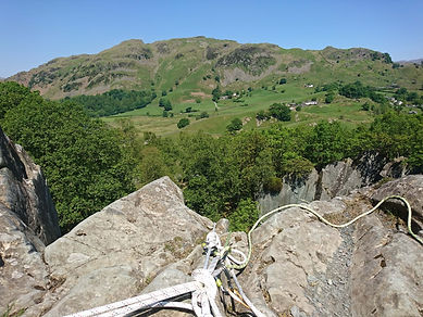 View of Langdale from Abseil