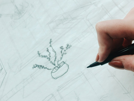 Jilly Smith Design Process & Hand Sketching