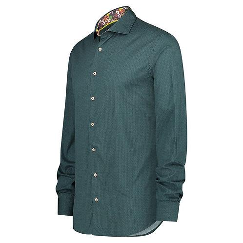 Printed Shirt Knit Dark Green