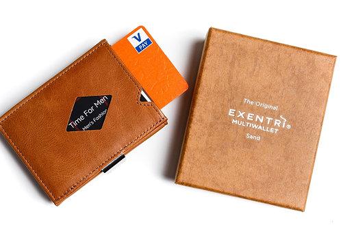 Wallet Exentri Camel met muntvak