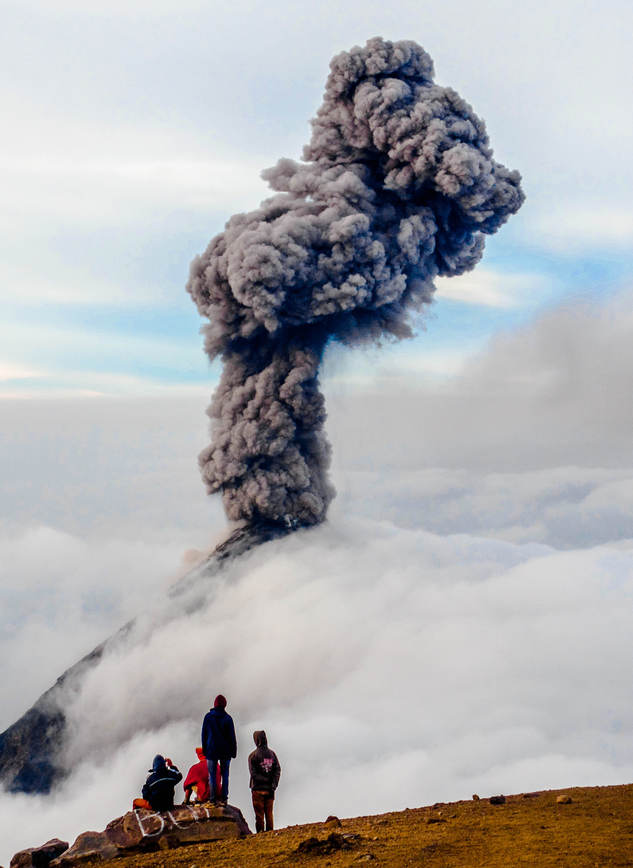 Volcano Eruption, Guatemala
