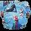 Foxy Mama Cloth Reusable Diaper Cover Blue Disney Frozen