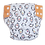 Foxy Mama Cloth Reusable Diaper Cover White, Orange & Black Penguins