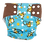 Foxy Mama Cloth Reusable Diaper Cover Blue and Brown Monkeys