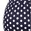 Thumbnail: Foxy Mama Navy Blue Polka Dot Maternity Dress  Duplicate  More actions