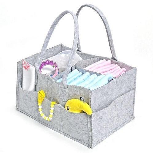 Grey Felt Nappy Bag Organiser