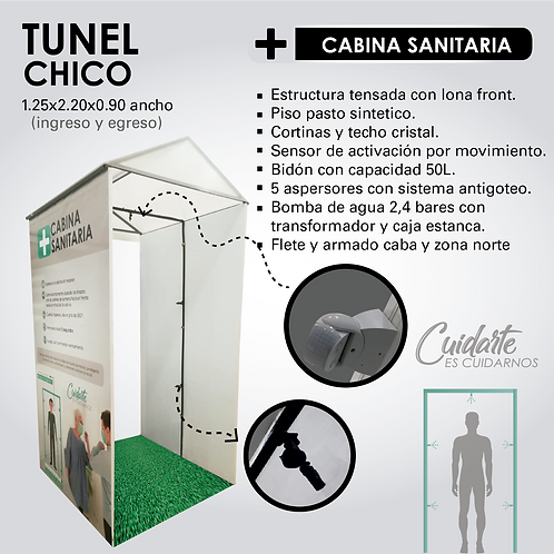 CABINA SANITIZANTE (TUNEL CHICO)
