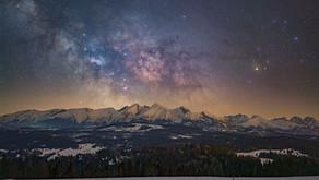 Droga Mleczna nad Tatrami Bielskimi
