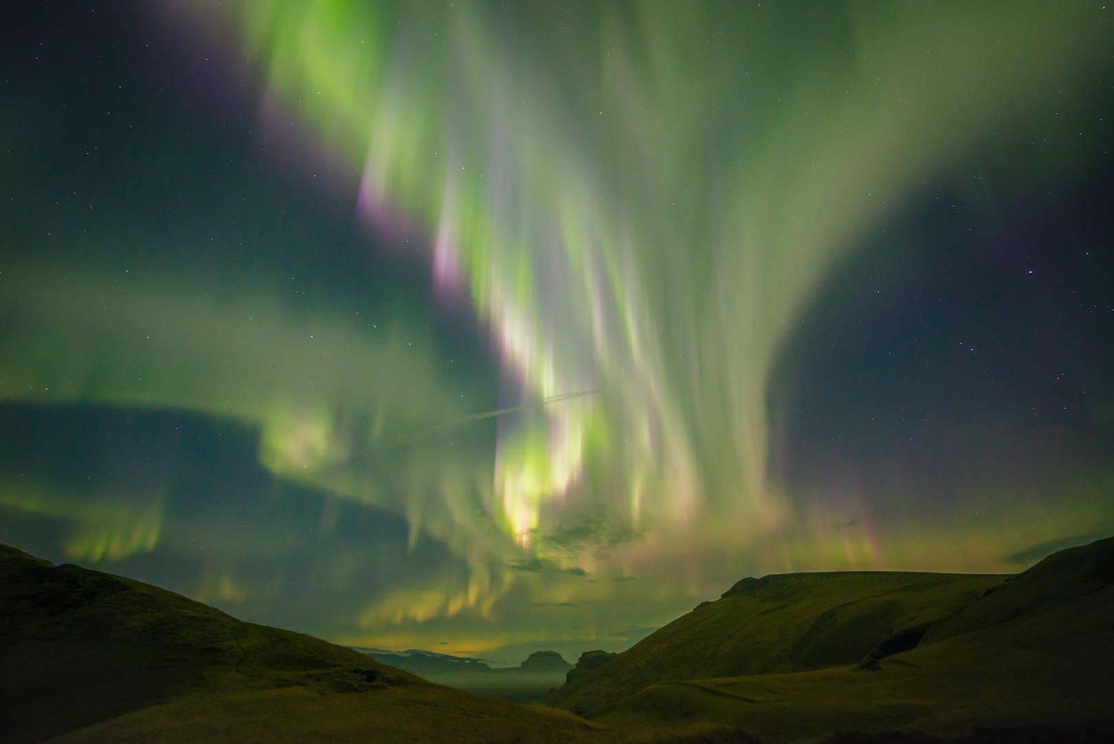 Światła północy - Islandia