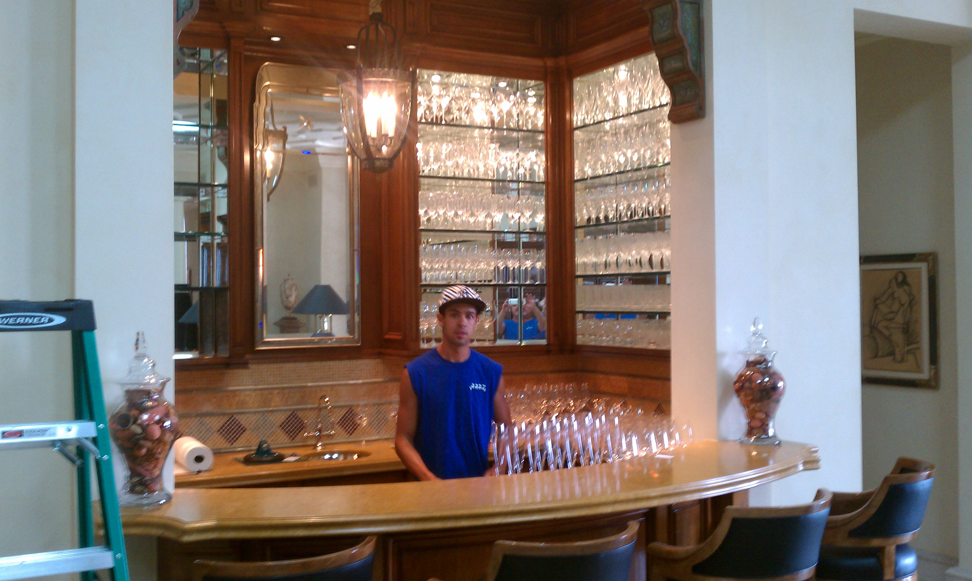 Glass Beverage Bar