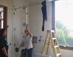 Large Glass Shower Enclosure
