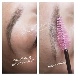 Healed Microblading Eyebrows Broken Arrow, OK