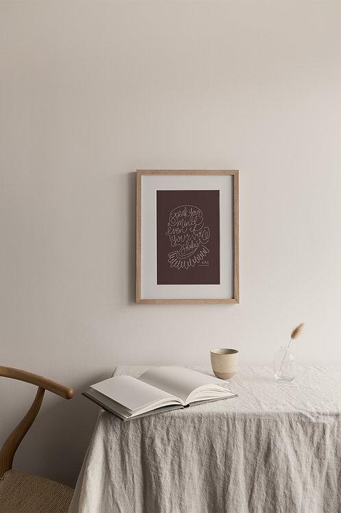 Speak Your Mind Giclée Print - Plum