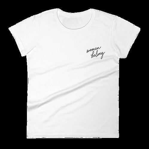 RBG Embroidered Ladies' T-Shirt (Light) - Women Belong