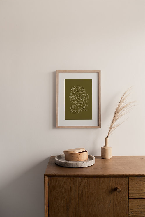 Women Belong Giclée Print - Moss
