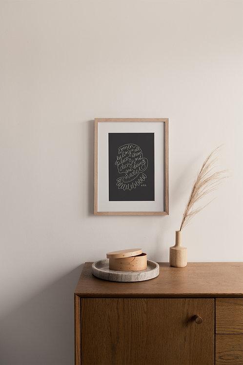 Women Belong Giclée Print - Charcoal