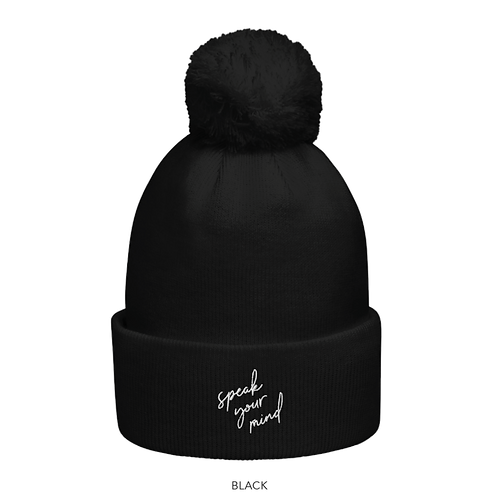RBG Pom Pom Beanie - Speak Your Mind