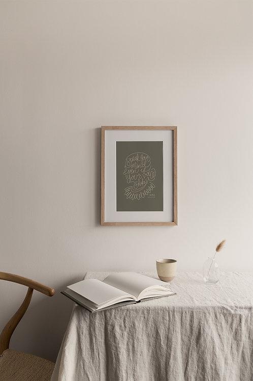 Speak Your Mind Giclée Print - Khaki