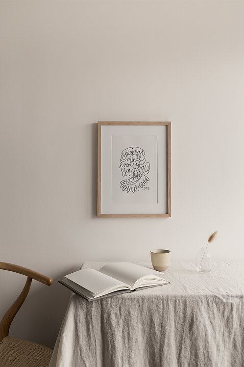 Speak Your Mind Giclée Print - White