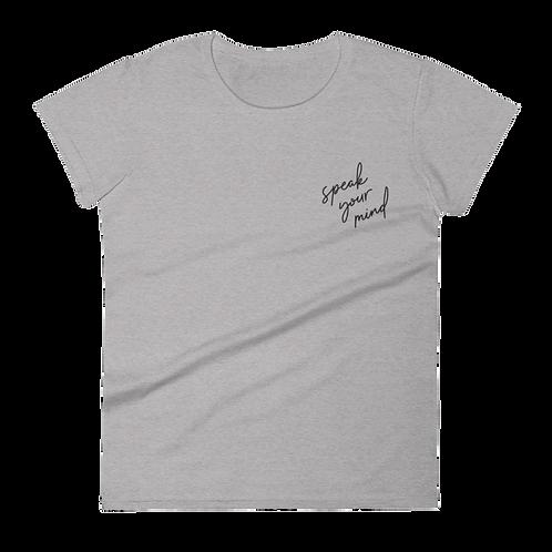 RBG Embroidered Ladies' T-Shirt (Light) - Speak Your Mind