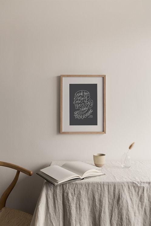 Speak Your Mind Giclée Print - Charcoal