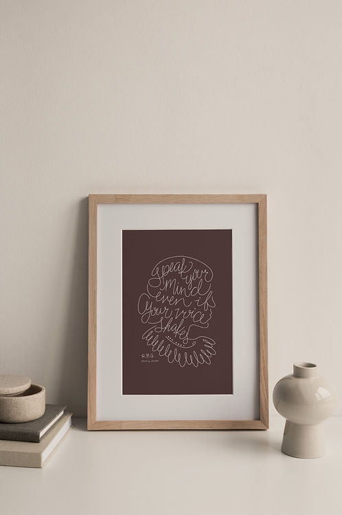 Speak Your Mind Giclée Print - Plum (Right Facing)