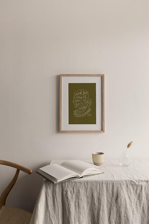 Speak Your Mind Giclée Print - Moss