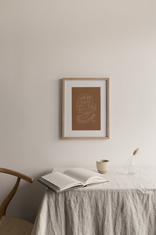 Speak Your Mind Giclée Print - Terracotta