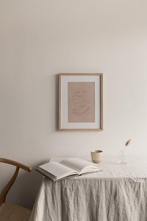 Speak Your Mind Giclée Print - Blush